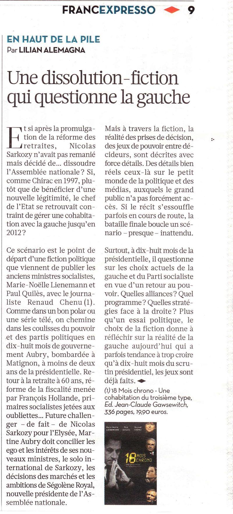Libération 18 mois chron
